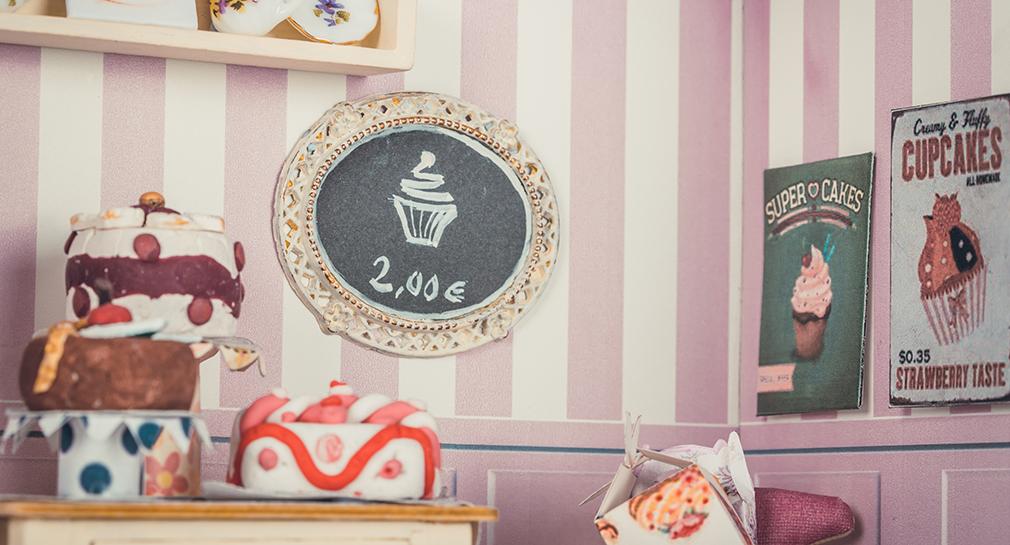 Retro pastry shop detail