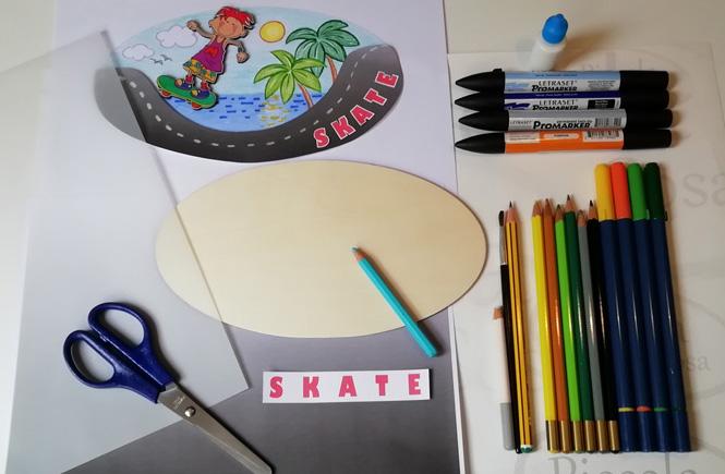 Materiales para cartel puerta skate