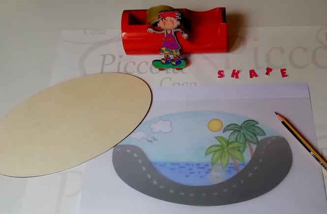 Manualidades. Calcar dibujo fondo Skate 01